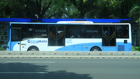 TransJakarta公共汽车 图库摄影