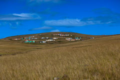 Transkei Africa Homes Hillside Stock Photo