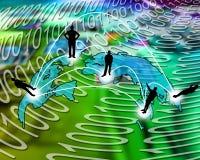 Transkontinentales Getriebe von Daten Lizenzfreie Stockfotos