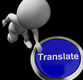 Translate Button Shows Online International Multilingual Transla Royalty Free Stock Photo