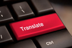 Translate Computer Key. In Showing Online Translator Royalty Free Stock Photography