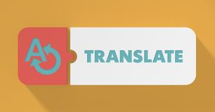 Translate Concept in Flat Design. Stock Photos
