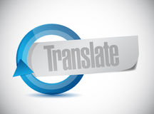 Translate cycle sign illustration design Royalty Free Stock Images