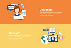 Translate Dictionary Vocabulary Technology Translation Tool Web Banner Royalty Free Stock Images