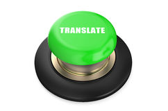 Translate green push button Royalty Free Stock Photos
