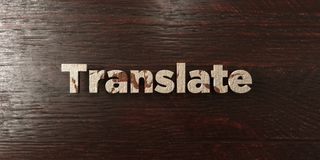 Translate - grungy wooden headline on Maple  - 3D rendered royalty free stock image Royalty Free Stock Photography