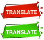 Translate sign Royalty Free Stock Photography