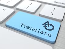 Translating Concept. Translate Button on Modern Computer Keyboard Royalty Free Stock Images