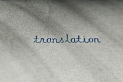 Translation Royalty Free Stock Image