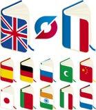 Translation books. Vector illustration of translation concept Royalty Free Stock Photography