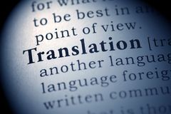 Translation. Fake Dictionary, Dictionary definition of the word Translation
