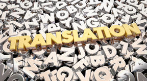 Translation Foreign Language Letters Word Stock Photo