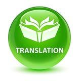 Translation glassy green round button Stock Photo