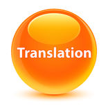 Translation glassy orange round button Stock Photo