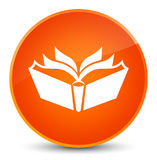 Translation icon elegant orange round button Stock Image