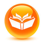 Translation icon glassy orange round button Stock Image