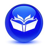 Translation icon glassy blue round button. Translation icon isolated on glassy blue round button abstract illustration Royalty Free Stock Photo