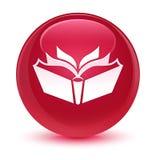 Translation icon glassy pink round button Royalty Free Stock Photos