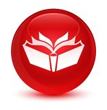 Translation icon glassy red round button Stock Image