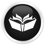 Translation icon premium black round button Royalty Free Stock Photos