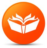 Translation icon orange round button Royalty Free Stock Photography