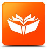 Translation icon orange square button Royalty Free Stock Images