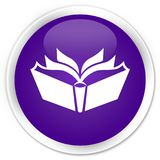 Translation icon premium purple round button Stock Photography