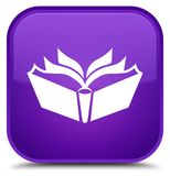 Translation icon special purple square button Stock Image