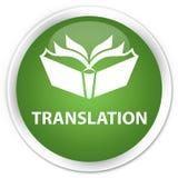 Translation premium soft green round button Stock Photography