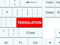 Translation red keyboard button Royalty Free Stock Photos