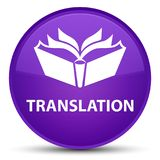 Translation special purple round button Stock Images