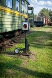 Translation mechanism rail Stock Photo