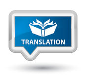 Translation prime blue banner button Stock Images