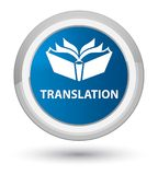 Translation prime blue round button Stock Photography