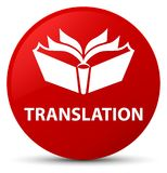 Translation red round button Royalty Free Stock Images