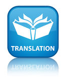 Translation special cyan blue square button Royalty Free Stock Photo