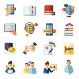 Translator Icons Set Royalty Free Stock Photography