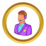 Translator interpreter vector icon Royalty Free Stock Photo