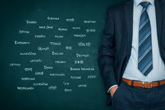Translator professional and language concept royalty free stock photography