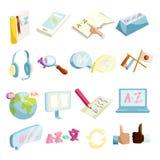 Translator symbols icons set, cartoon style Stock Photos