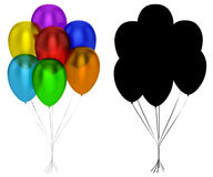 Translucent Balloons Isolated Royalty Free Stock Photography