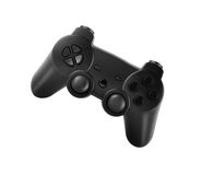 Translucent black joypad over white. Translucent black joypad isolated on white background Royalty Free Stock Photo