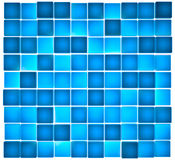 Translucent blue cubes lit from behind. 3D render of cubes with subsurface scattering material Royalty Free Stock Photography