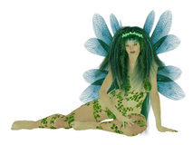 Translucent Blue Green Fairy Stock Images