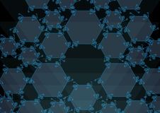 Translucent blue hexanes. Illustration of a Translucent blue hexanes vector illustration