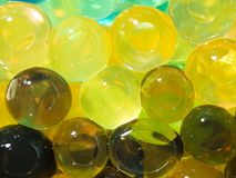 Translucent bright yellow brown beads Stock Photography