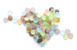 Translucent colored stones and hear Royalty Free Stock Photo