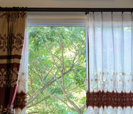 Translucent curtain window Royalty Free Stock Photos