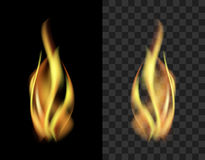 Translucent fire flame smoke isolated on a black background tran Royalty Free Stock Image
