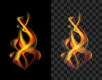 Translucent fire flame torch. Semitransparent Royalty Free Stock Photo